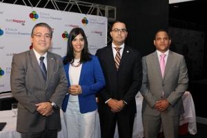 Luis Martín Gomez, Evelin Cáaceres, Valentin Sánchez y Didier Ogando