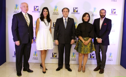 Pedro Esteva, Michelle Disla, Gustavo Ariza, Mildred Minaya y Lawrence Hazoury